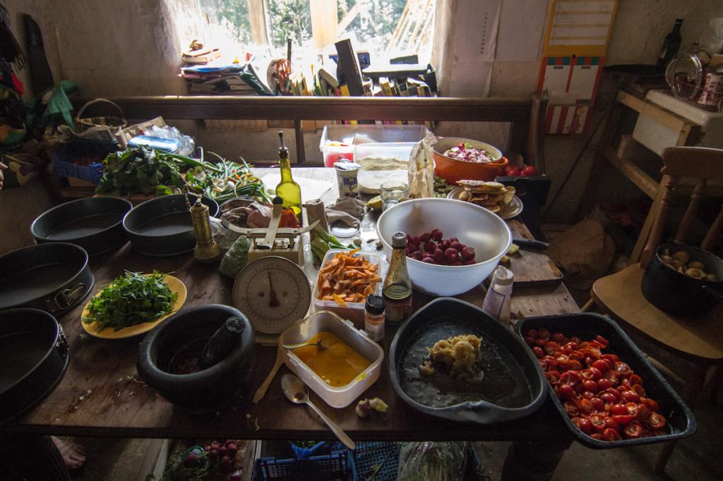 Preparação do banquete
